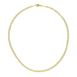 14K Yellow Gold Oval Link Chain 3.0mm