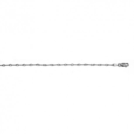 14K White Gold Twisted Link Chain