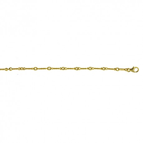 14K Yellow Gold Twisted Link Chain