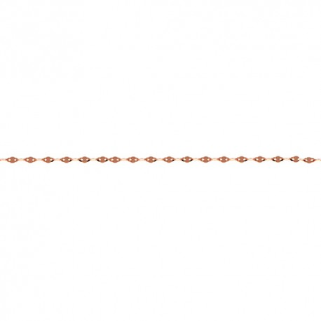 14K Pink Gold Fancy Link Chain