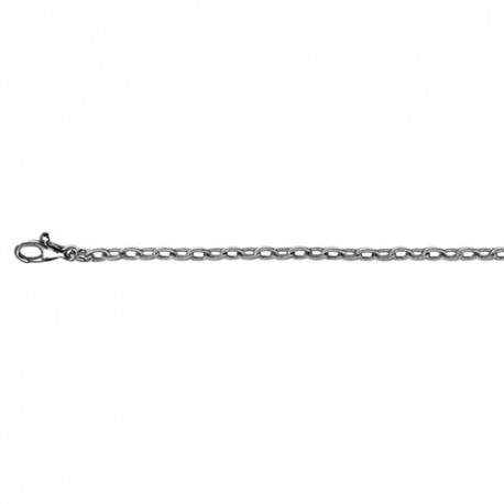 18K White Gold Cable Silk Link Chain 2.8mm