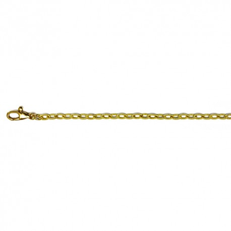 18K Green Gold 'Cable Silk' Link Chain 2.8mm