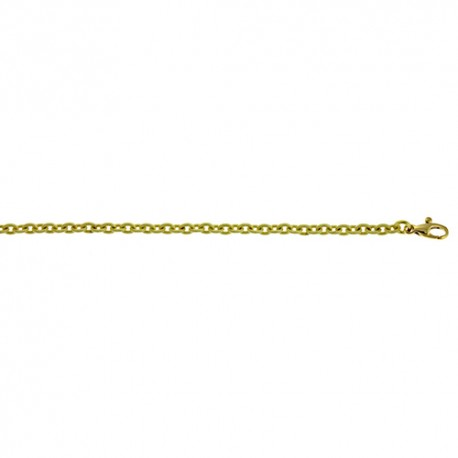 18K Green Gold 'Cable Silk' Link Chain 3.3mm