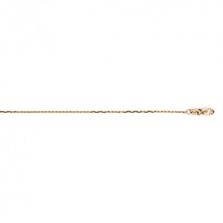 18K Yellow Gold Oval Link Chain 1.2mm