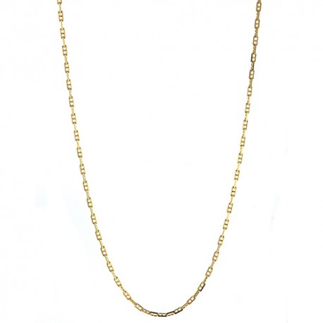 18K Yellow Gold Anchor Style Link Chain 1.3mm