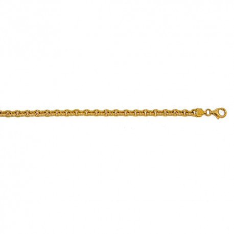 18K Yellow Gold Solid Oval Link Chain 4.4mm
