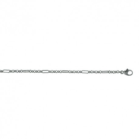 18K White Gold Mixed Link Chain