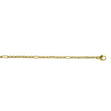 18K Yellow Gold Mixed Link Chain