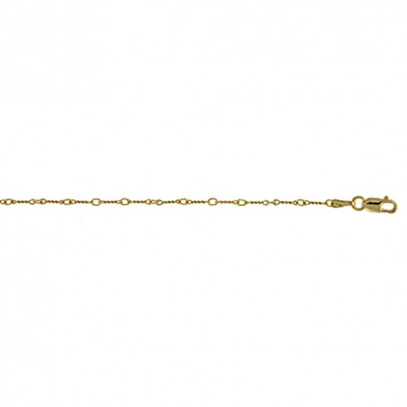 18K Yellow Gold Twist Link Chain