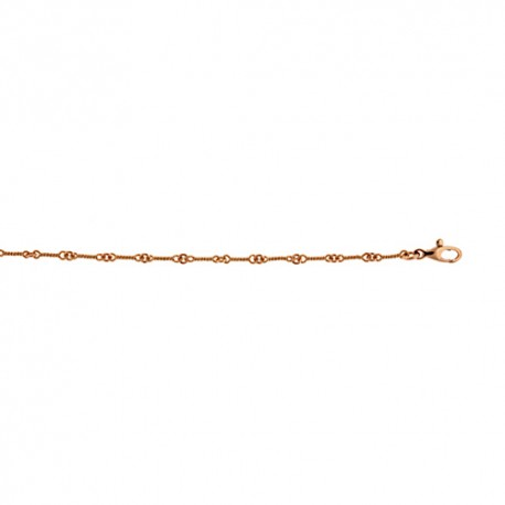 18K Pink Gold Twist Link Chain