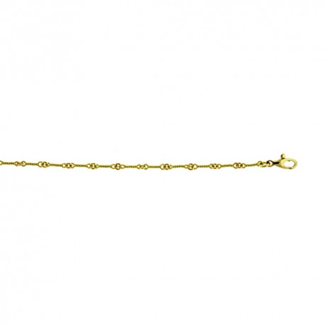 18K Green Gold Twisted Link Chain