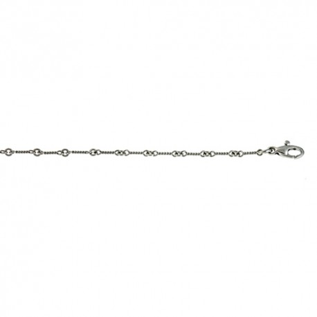 18K White Gold Twisted Link Chain