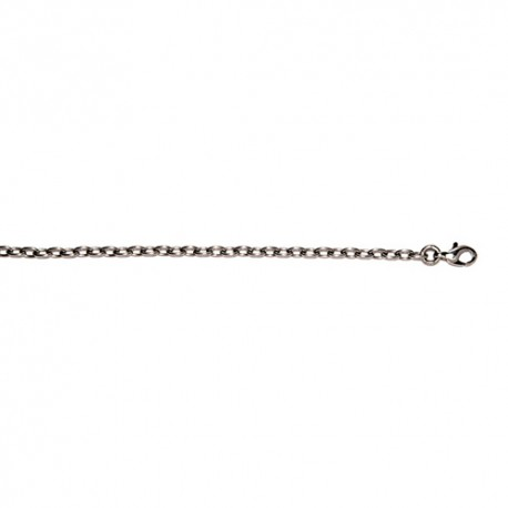 Platinum Solid Cable Link Chain 3mm