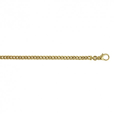 14K Yellow Gold Round Curb Chain 4.5mm