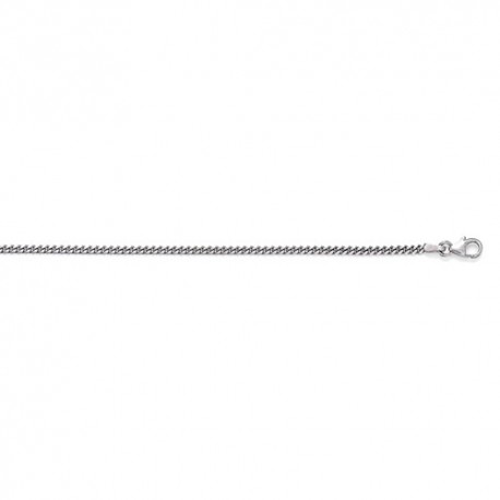 14K White Gold Curb Chain 2.4mm