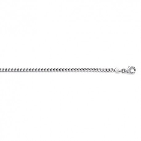 14K White Gold Curb Chain 3.4mm