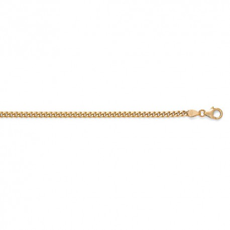 14K Yellow Gold Curb Chain 3.4mm