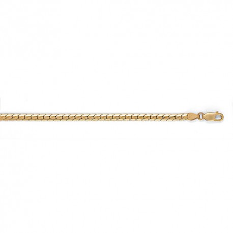 14K Yellow Gold Oval Curb Chain 3.7mm