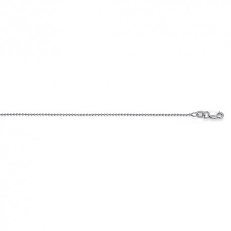14K White Gold Bead Chain 1.2mm