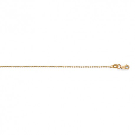 14K Yellow Gold Bead Chain 1.2mm