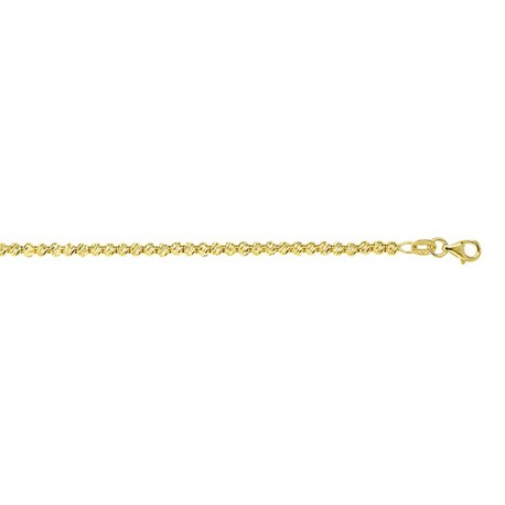 14K Yellow Gold Diamond Cut Bead Chain 3.0mm