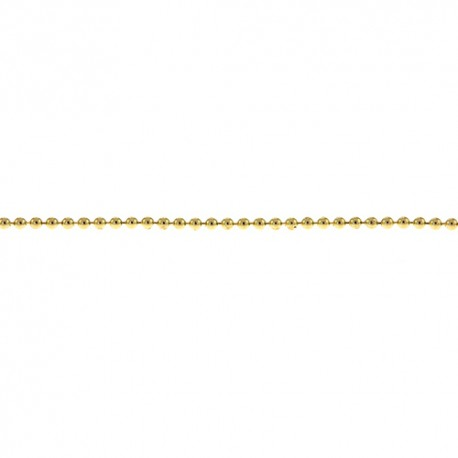 18K Yellow Gold Bead Chain 1.2mm