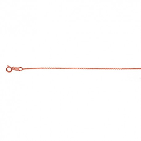 14K Pink Gold Cable Chain 1.1mm