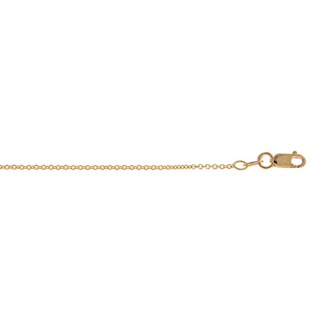 14K Yellow Gold Cable Chain 1.3mm