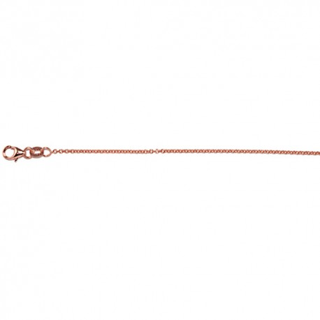 14K Pink Gold Cable Chain 1.5mm