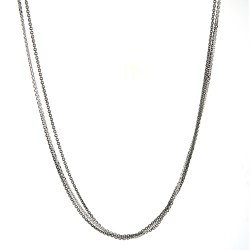 14K White & Black 3 Strand Cable Chain