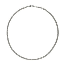 14K White Gold 3 Strand Cable Chain 1.5mm