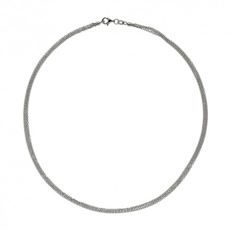 14K White Gold 3 Strand Cable Chain