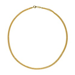 14K Yellow Gold 3 Strand Cable Chain 1.5mm