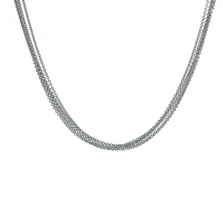 14K White Gold 5 Strand Cable Chain