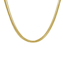 14K Yellow Gold 5 Strand Cable Chain