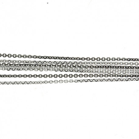 14K White & Black Gold 7 Strand Cable Chain