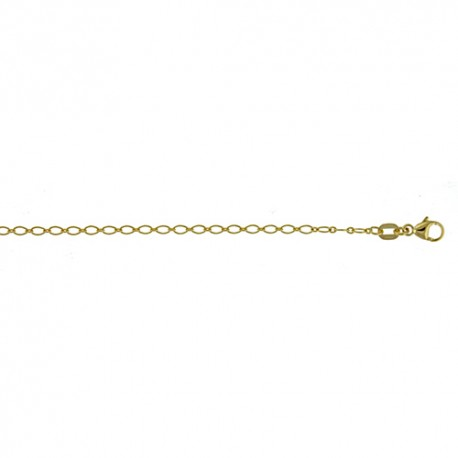 14K Yellow Gold Baroque Cable Link Chain 1.9mm