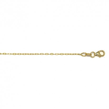 14K Yellow Gold Oval Link Cable Chain 1.0mm