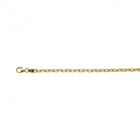 14K Yellow Gold Oval Cable Chain 2.9mm