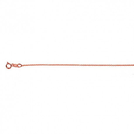 18K Pink Gold Cable Chain 1.1mm