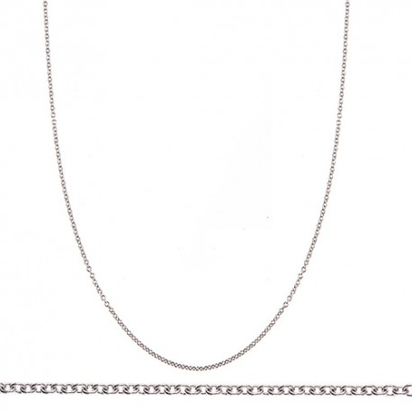 18K White Gold Cable Chain 1.1mm