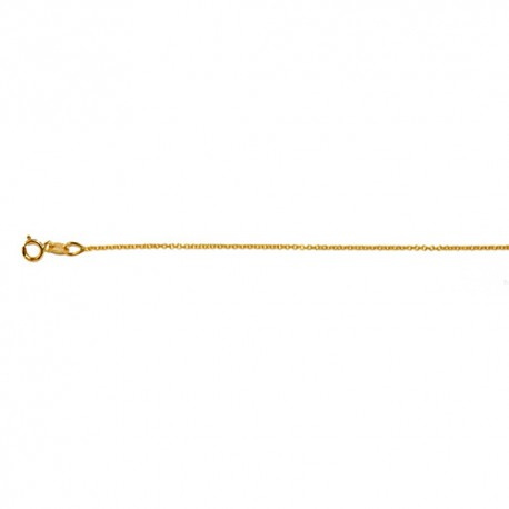 18K Yellow Gold Cable Chain 1.1mm