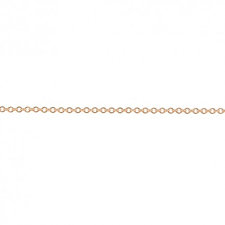 18K Pink Gold Cable Chain 1.3mm