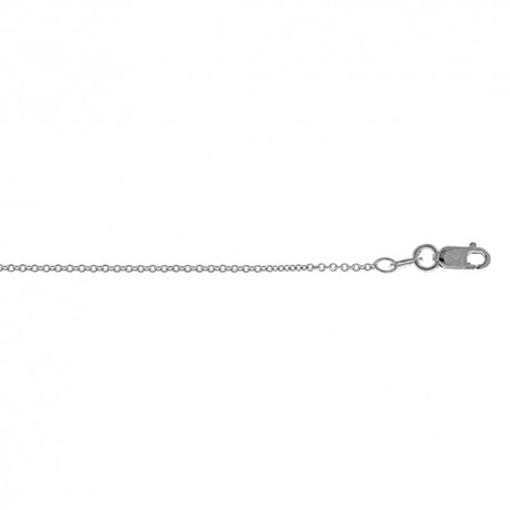 18K White Gold Cable Chain 1.3mm