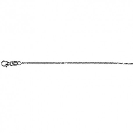 18K White Gold Cable Chain 1.5mm