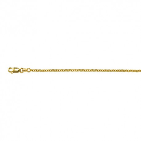 18K Yellow Gold Cable Chain 2.4mm