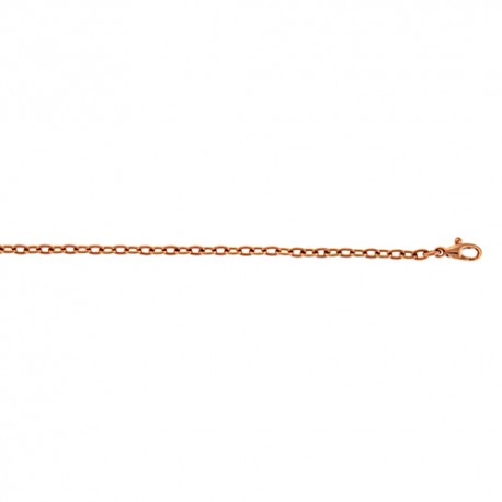 18K Pink Gold Cable Chain 2.8mm
