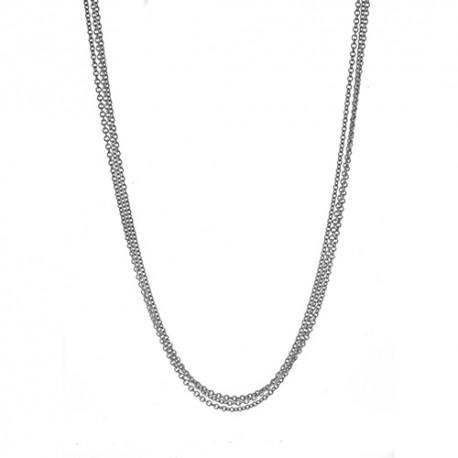 18K White Gold 3 Strand Cable Chain