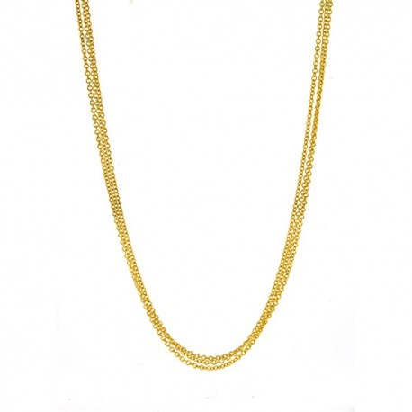 18K Yellow Gold 3 Strand Cable Chain