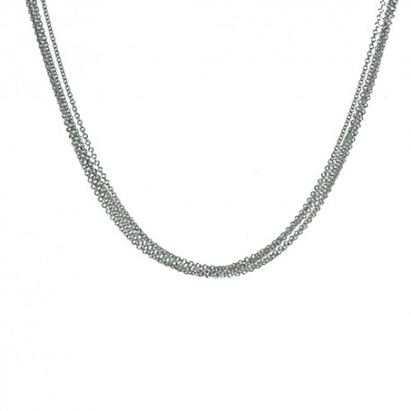 18K White Gold 5 Strand Cable Chain